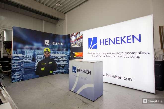 Oblý výstavný stánok 5x3m - Heneken