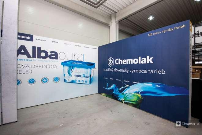 Výstavný stánok 4x4m - Chemolak